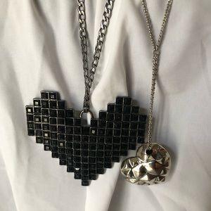 3/$12 BCBG Heart Necklaces
